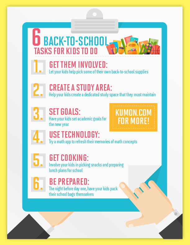 6 back to school tasks for kids to do