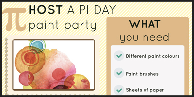 host a pi day paint party