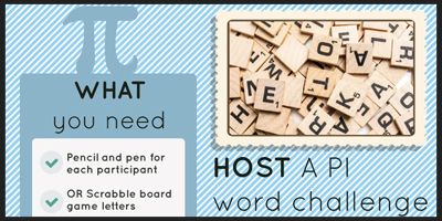 host a Pi word challenge