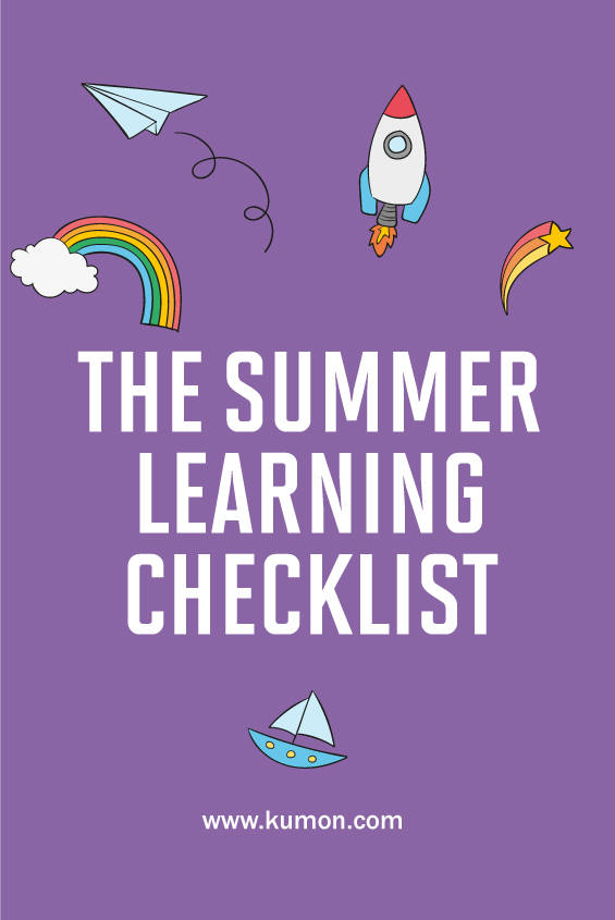 parenting tips - Kumon summer learning checklist
