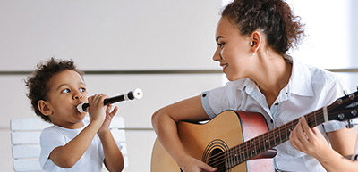 why not try playing music with your child?